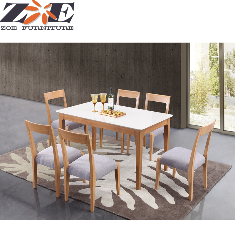 China Modern Cheap Solid Wood Dining Table With Six Chairs China Dining Table Modern Dining Table