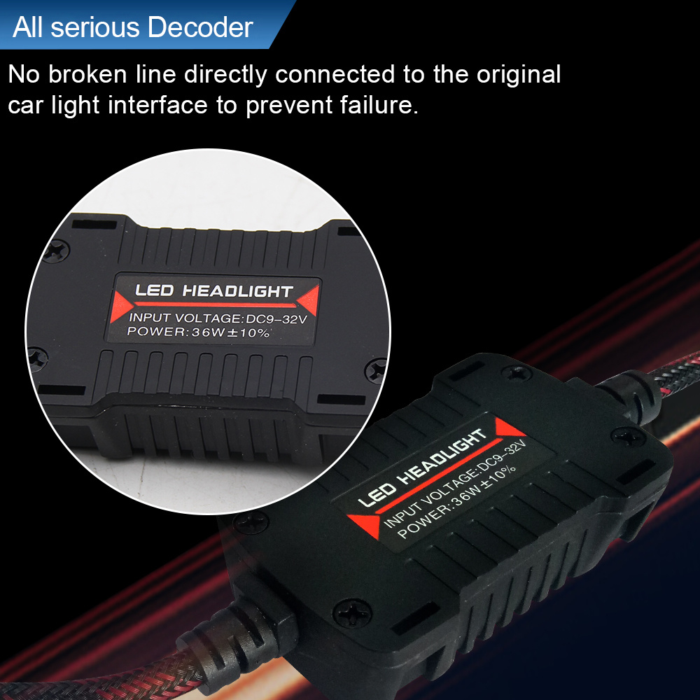 China Wholesale H4 H7 H11 H13 9005 9006 with Decoder LED