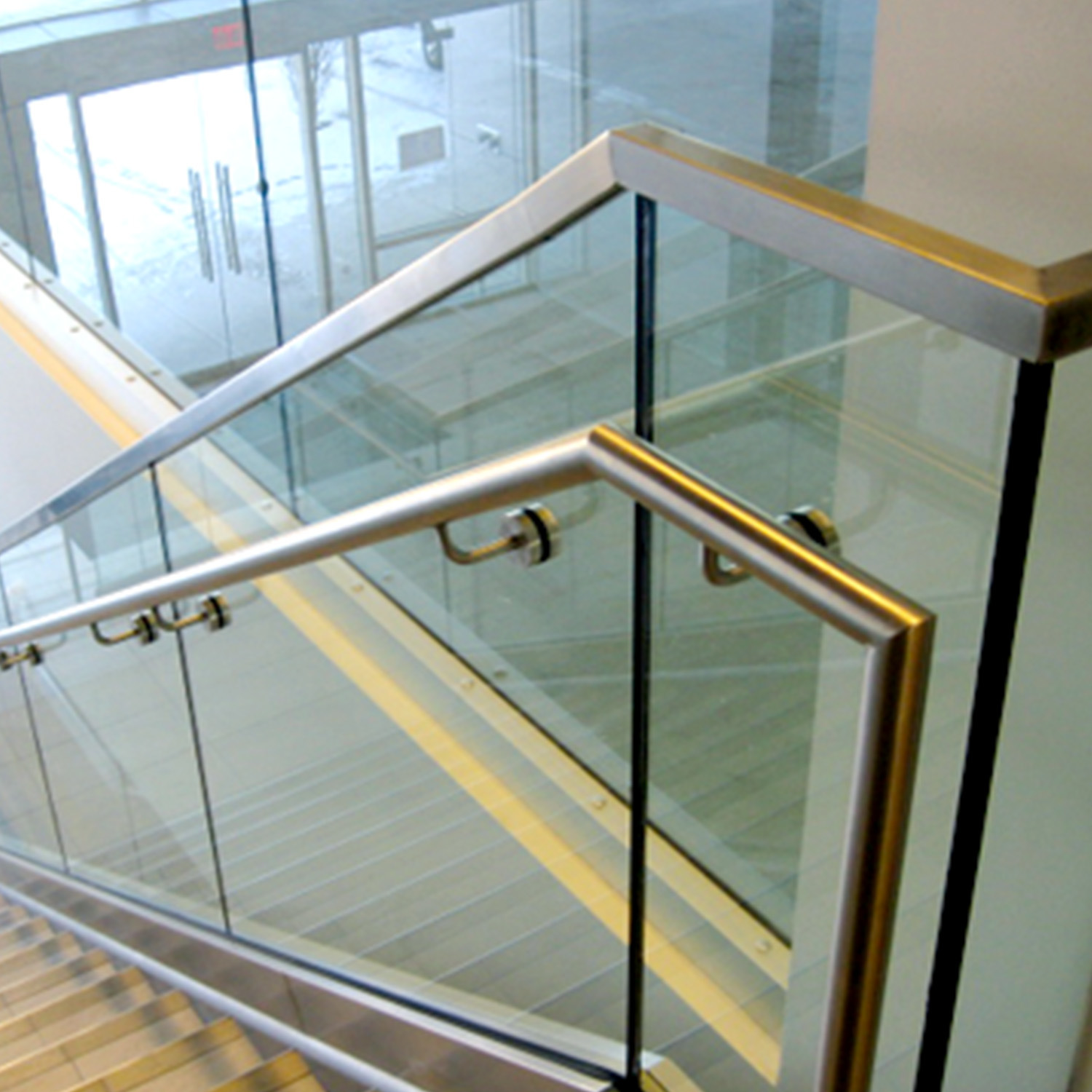 Picture of: China Factory Stainless Steel Glass Deck Railing For Balustrade System China Steel Deck Railing Glass Railing Factory