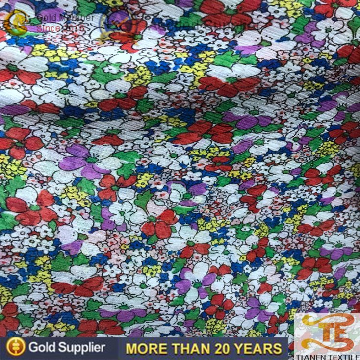 China Polyester Printing Design Dress Fabric Flower Print Chiffon