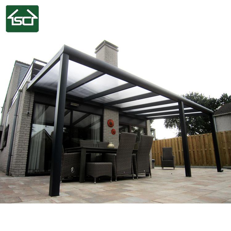 China Aluminium Pergola With Polycarbonate Sheet Roof