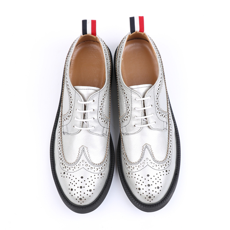 China London Brogues White Leather Mens