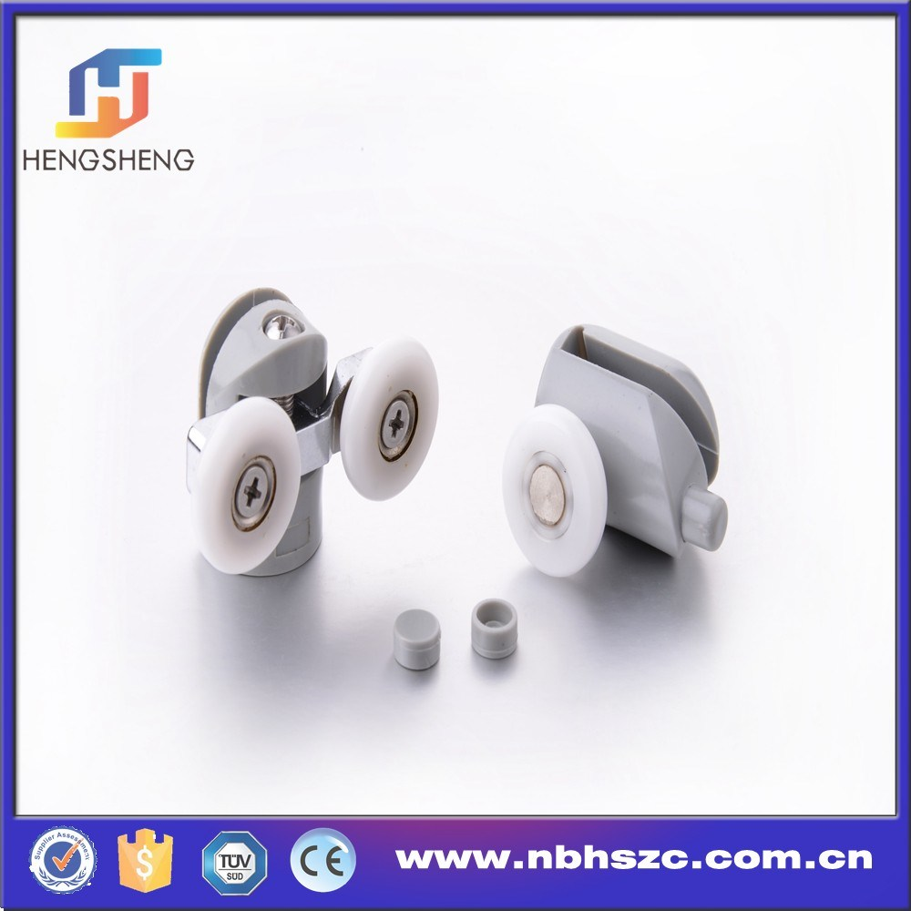 Plastic Single and Double Shower Glass Door Rollers
