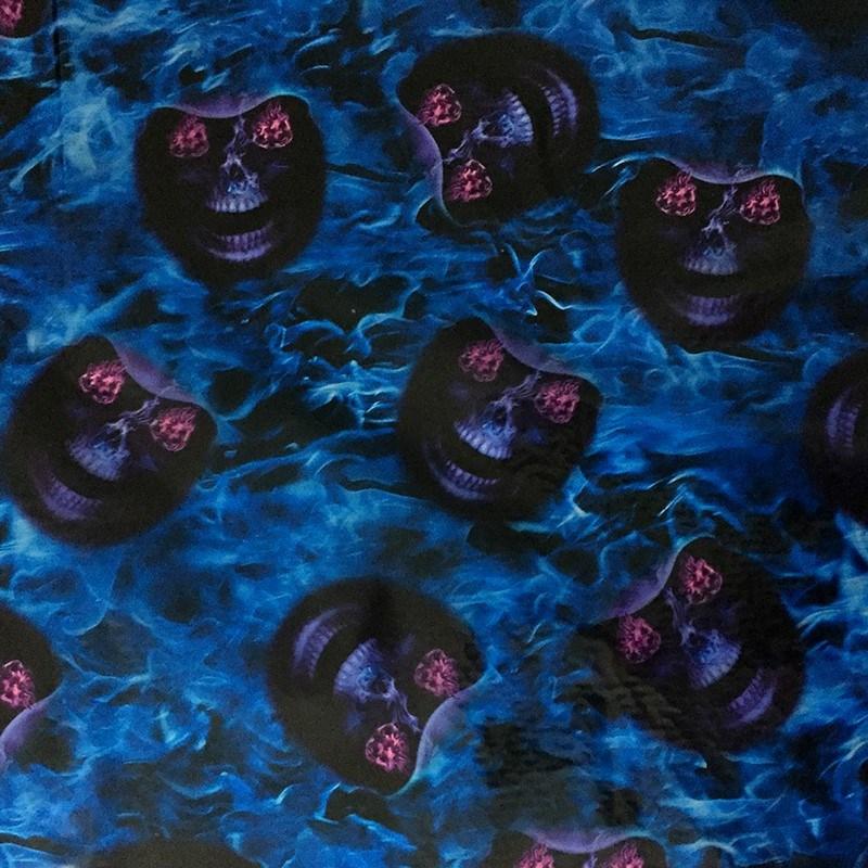 Hydro Dip Blue Fire PVA Hydrographic Film Water Transfer Printing Film 0.5*1m