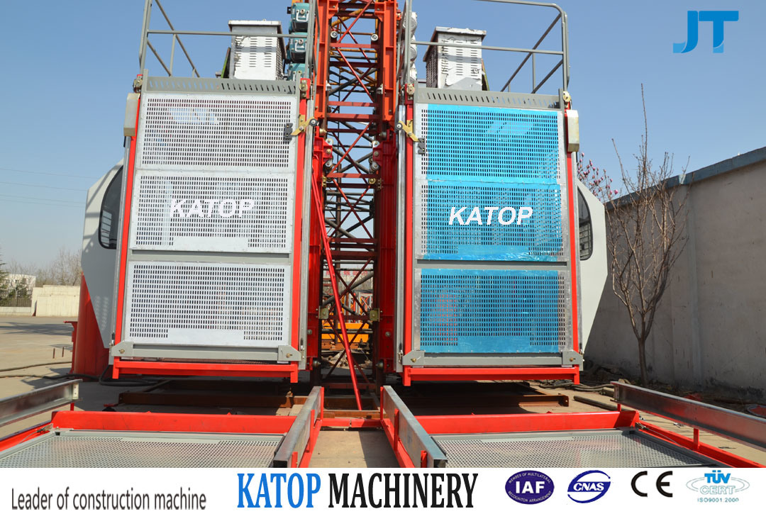 Katop Hoist Sc200/200 2t Load Double Cage Construction Hoist