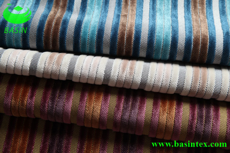 Stripe Velvet Sofa Fabric (BS4010)