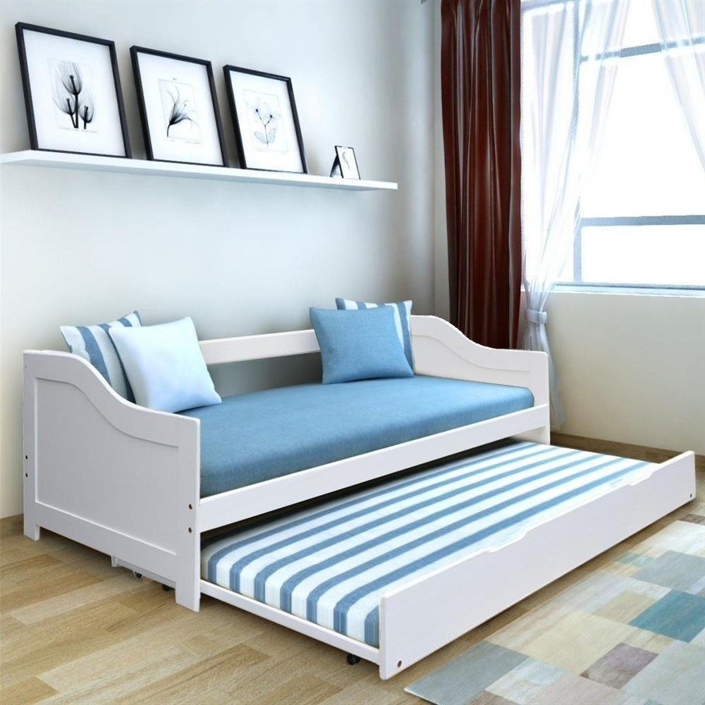 - China Wooden Day Bed With Trundle - China Bed, Trundle Bed