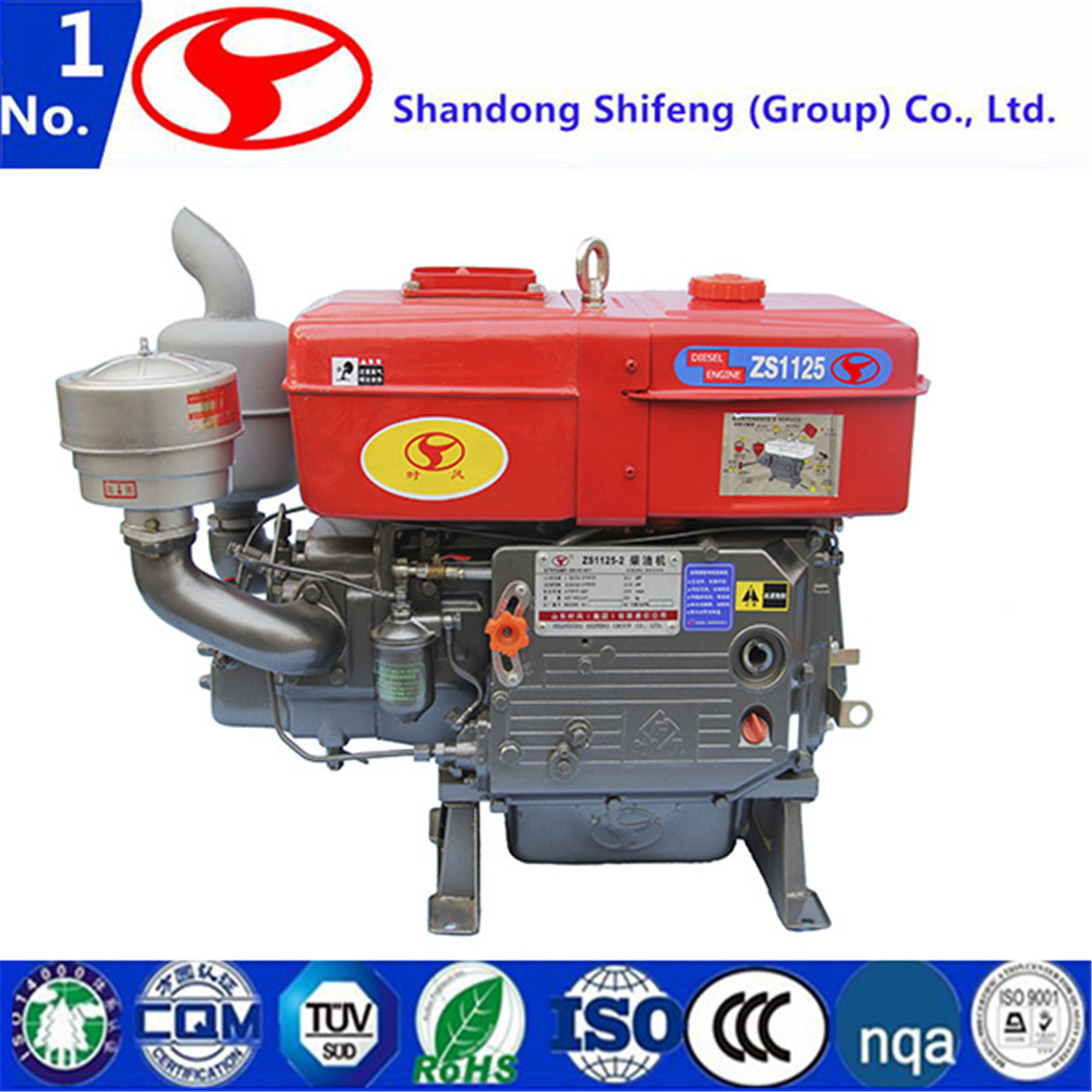 China Single Cylinder Marine Mills Agricultural Generator Pump