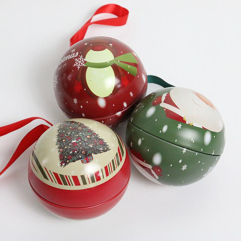 Christmas Tins.Hot Item Christmas Tin Balls Candy Tins Ball Shaped