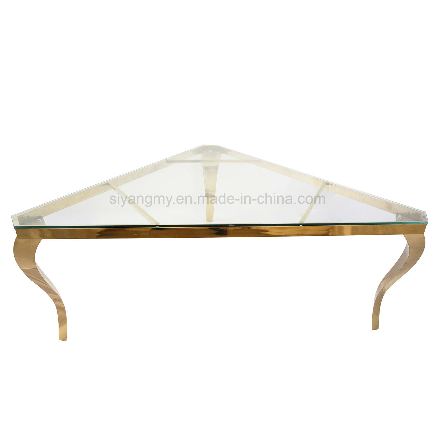 - China Wedding Furniture Glass Dining Table Folding Table Banquet
