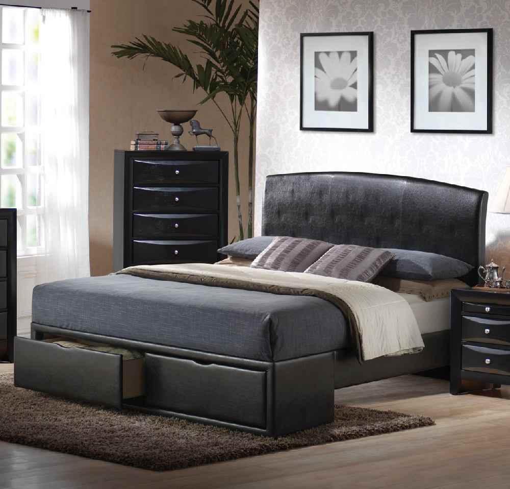 [Hot Item] Bedroom Furniture Modern Bedrooms Miami Side Twin Storage Room  Bed