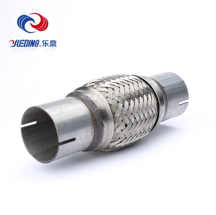 Exhaust Muffler Stainless Steel Flex Pipe with Nipple Single