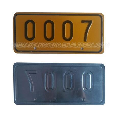 Hot Item Top Quality New Style Bike Number Plate Design