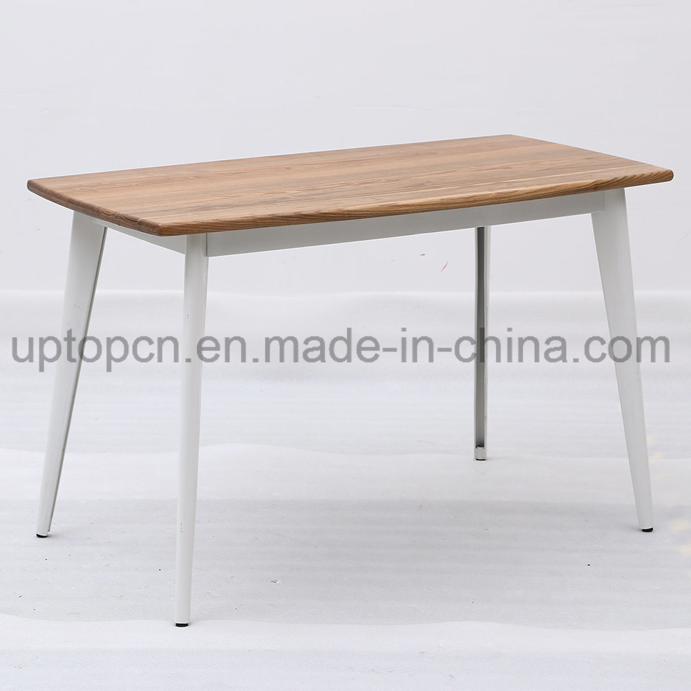 China wholesale metal frame high bar table with durable wooden table top sp rt558 china metal restaurant table metal table