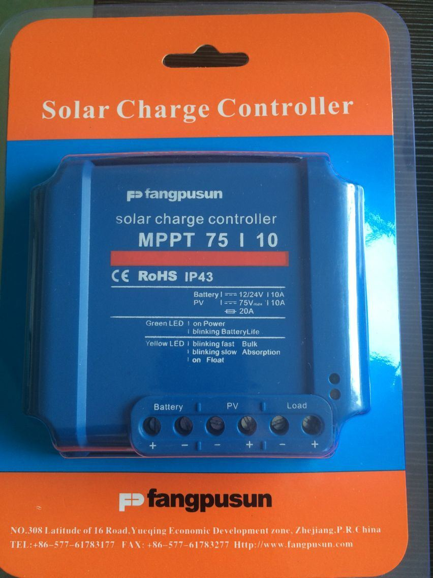China Ce Rohs Fangpusun 12v 24v Mppt Solar Charge Controller 10a For Panel Street Light System