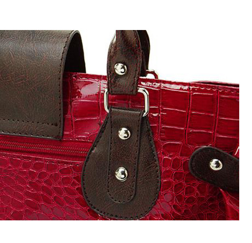 Lady′s Crocodile Grain PU Leather Handbags (RS-EP0009) pictures & photos