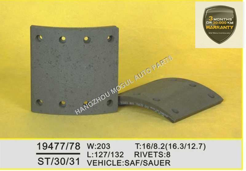 Brake Lining For Heavy Duty Truck Made In China 19477 19478 China Brake Lining Drum Brake Lining