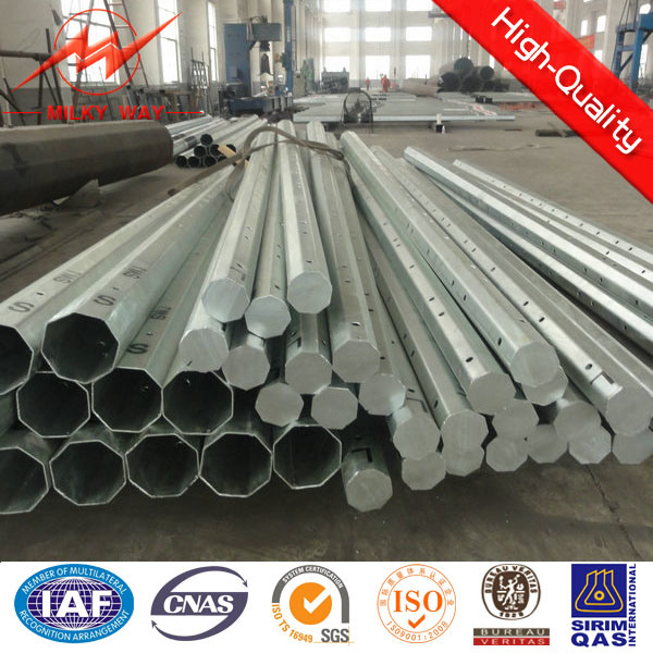 African Galvanized Steel Electric Pole