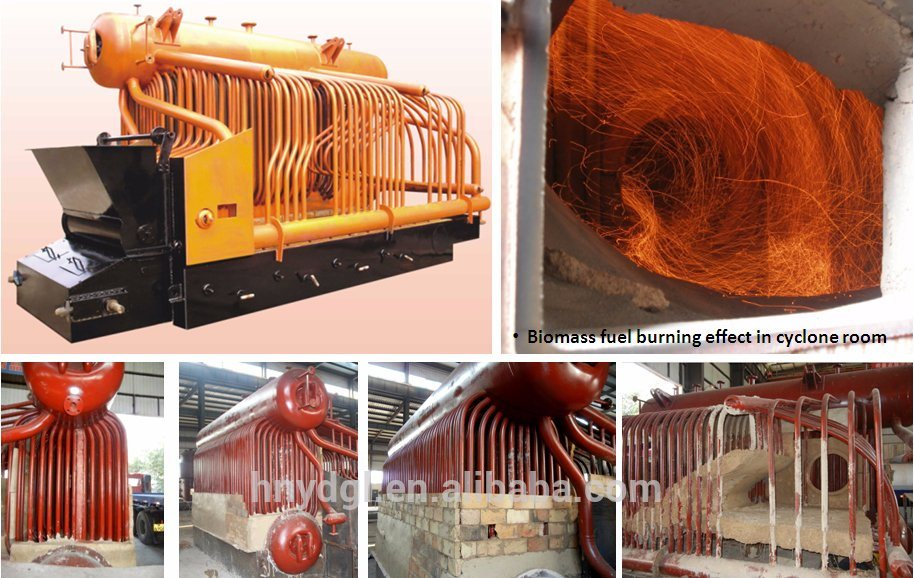 1ton/H 2ton/H 4ton/H 6ton/H 8ton/H 10ton/H Biomass Coal Pellet Husk Solid Fired Double Drum Industrial Steam Boiler pictures & photos