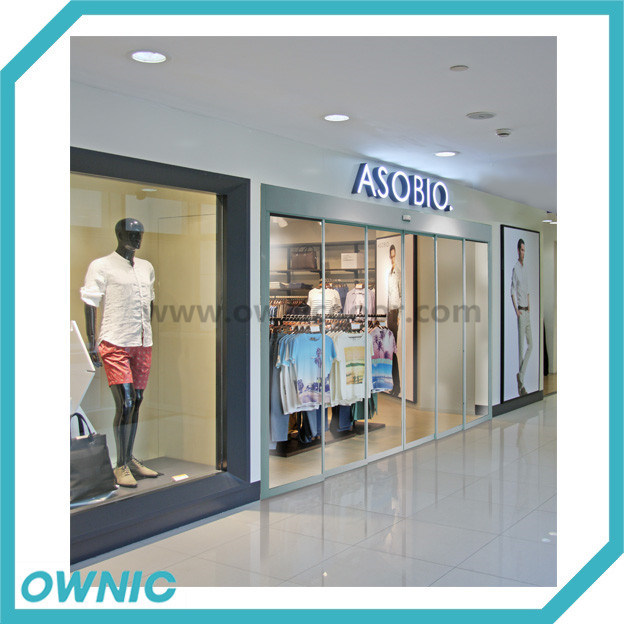 Hot Shopping Mall Gate, Aluminium Framed Automatic Telescopic Door