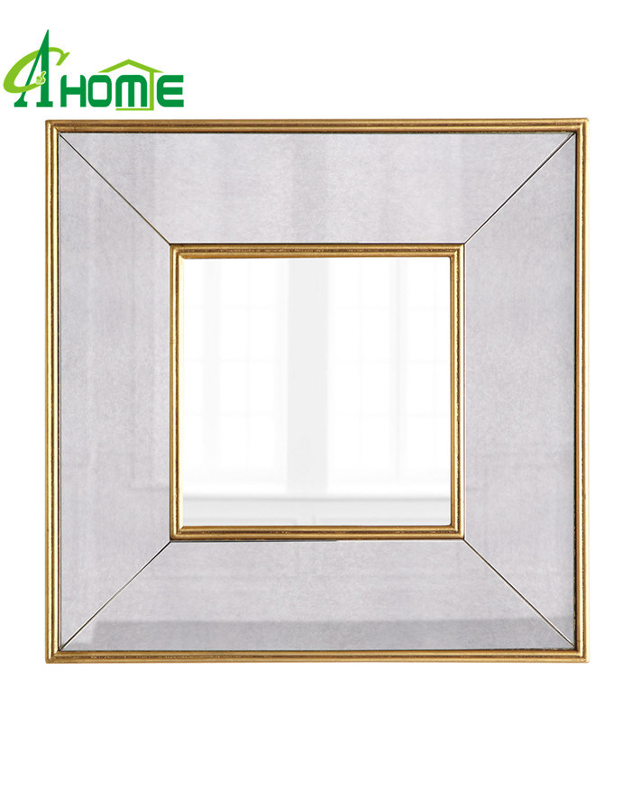 Hot Sales Antique Golden Finished Framed Wall Mirror Set 4 for Home Decor pictures & photos