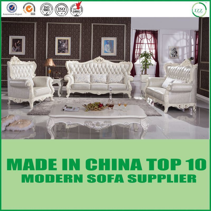 [Hot Item] European Style Luxurious Leather/Fabric Sofa Set Y1515