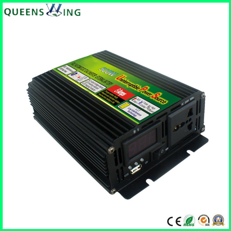 [Hot Item] 500W 12V/24V DC to AC 110V/220V UPS Power Inverter with Charger  (QW-M500UPS)