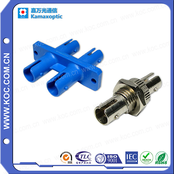 ST/PC Fiber Optic Adapter with Plastic or Metal Materials