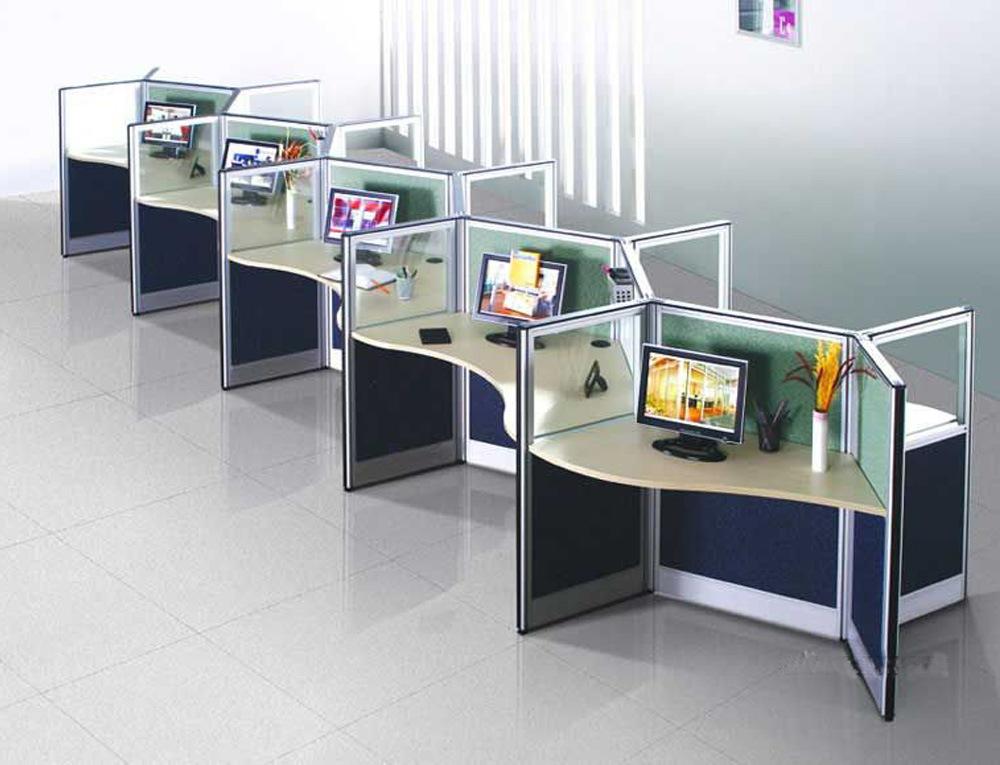 China Metal Frame Workstation Glass Desk Partition Panels
