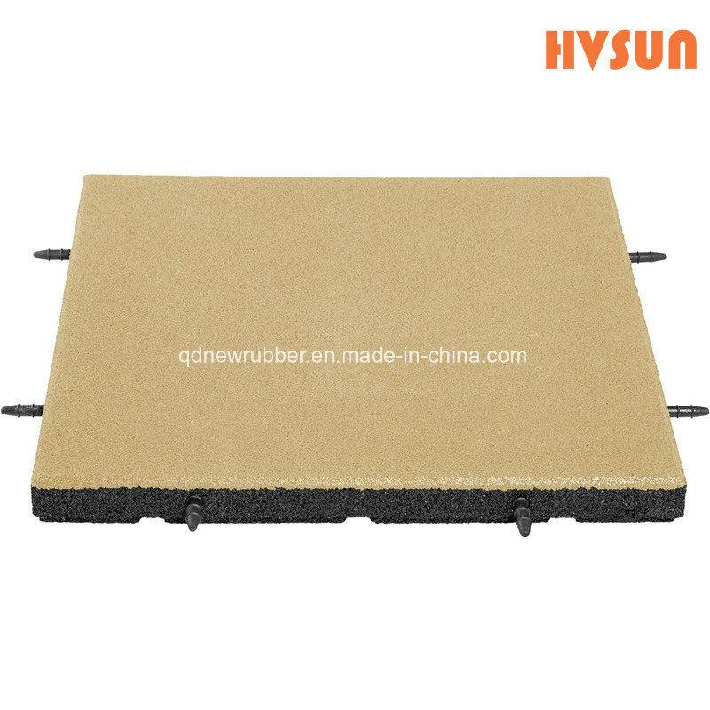 China 500mmx 500mmx 25mm Rubber Playground Flooringoutdoor Rubber
