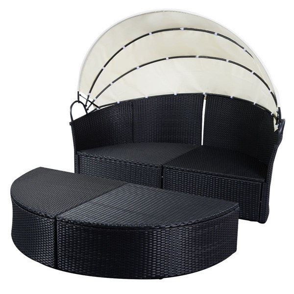Black Outdoor Round Patio Rattan Sofa Furniture pictures & photos