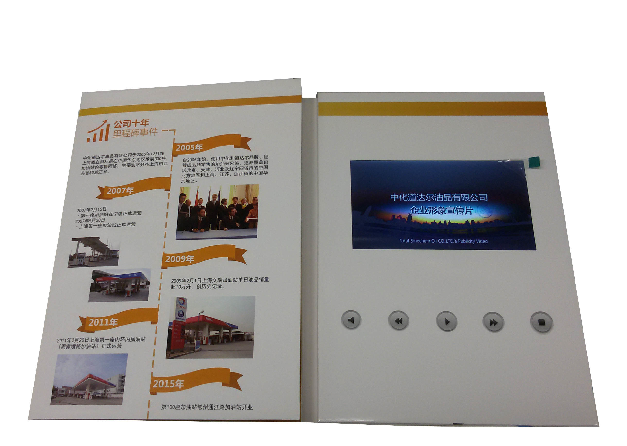 China Customized Printing 5inch Lcd Video Card Greeting Cards