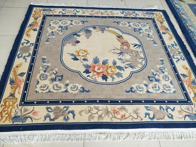 Hot Item Luxury Hand Knotted Chinese Aubuson Pattern Wool Rugs Oriental Fl Teppich