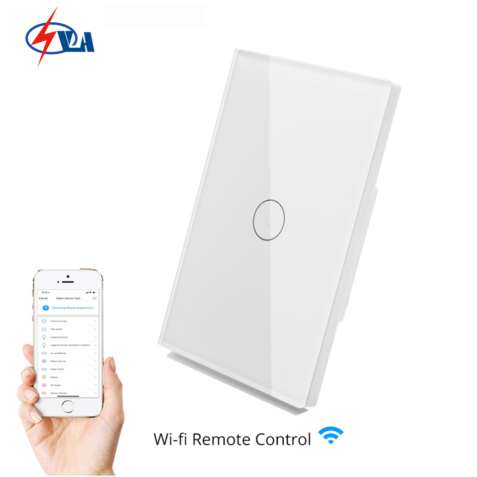 [Hot Item] Glass Panel Mobile APP Remote Control WiFi Smart Wall Switch  Work with Amazon Alexa Google Home EU UK