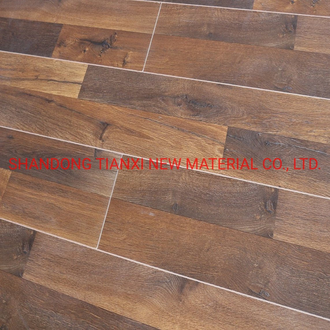 China 8mm 3 Strips Surface Semi Gloss Wood Laminated Floor Photos