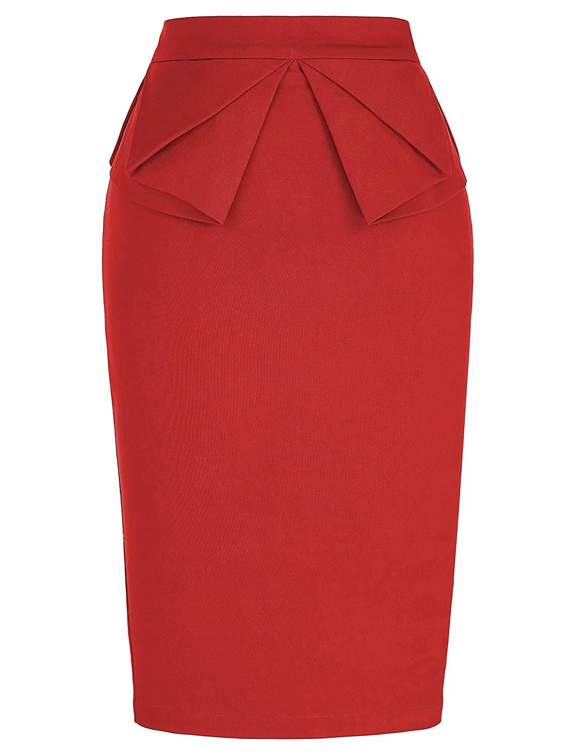 Stretchy Office Pencil Skirt
