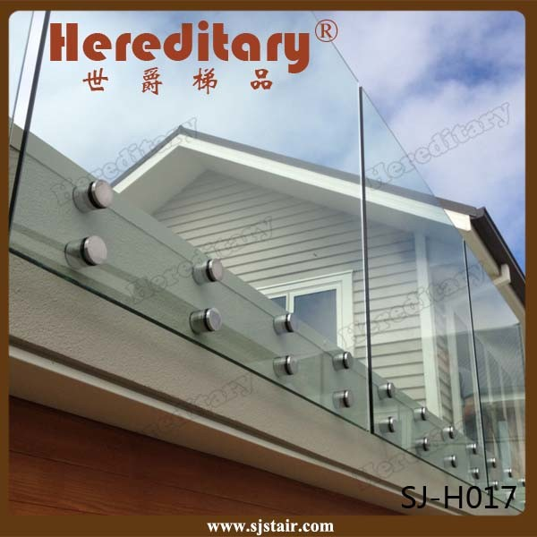 Exterior Aluminum U Channel Frameless Glass Railing for Balcony (SJ-X1072) pictures & photos
