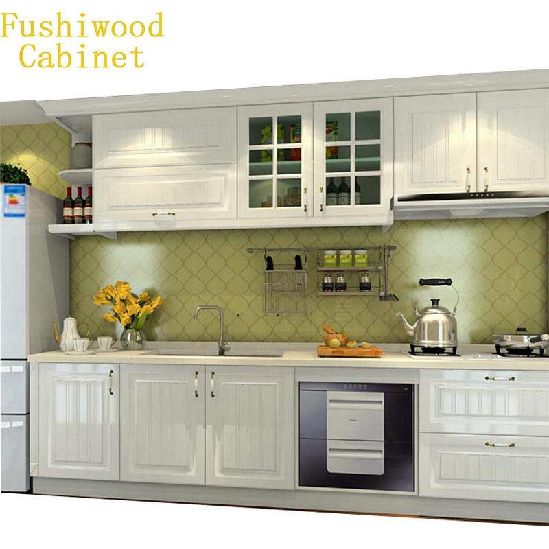 [Hot Item] White Simple Design Wood Kitchen Furniture Wholesale Kitchen  Cabinet Pantry