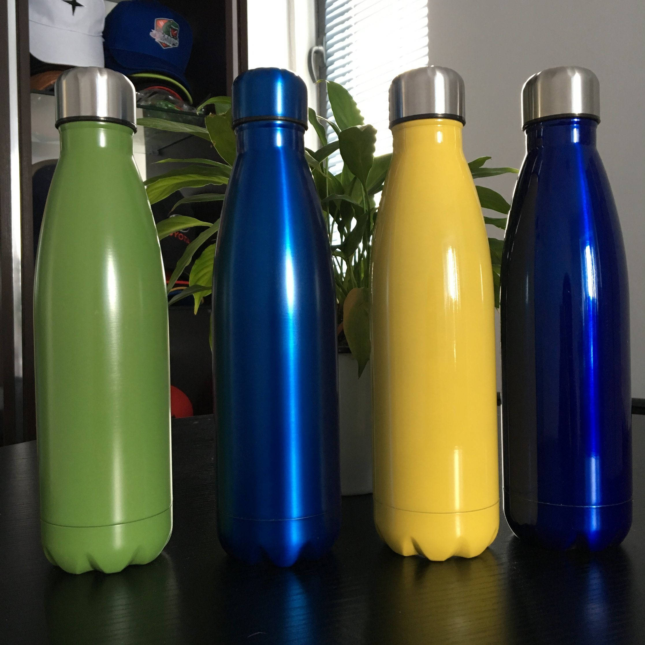 Personalised Water Bottle Stainless Steel Sports Bottle 500ml Screw on Lid