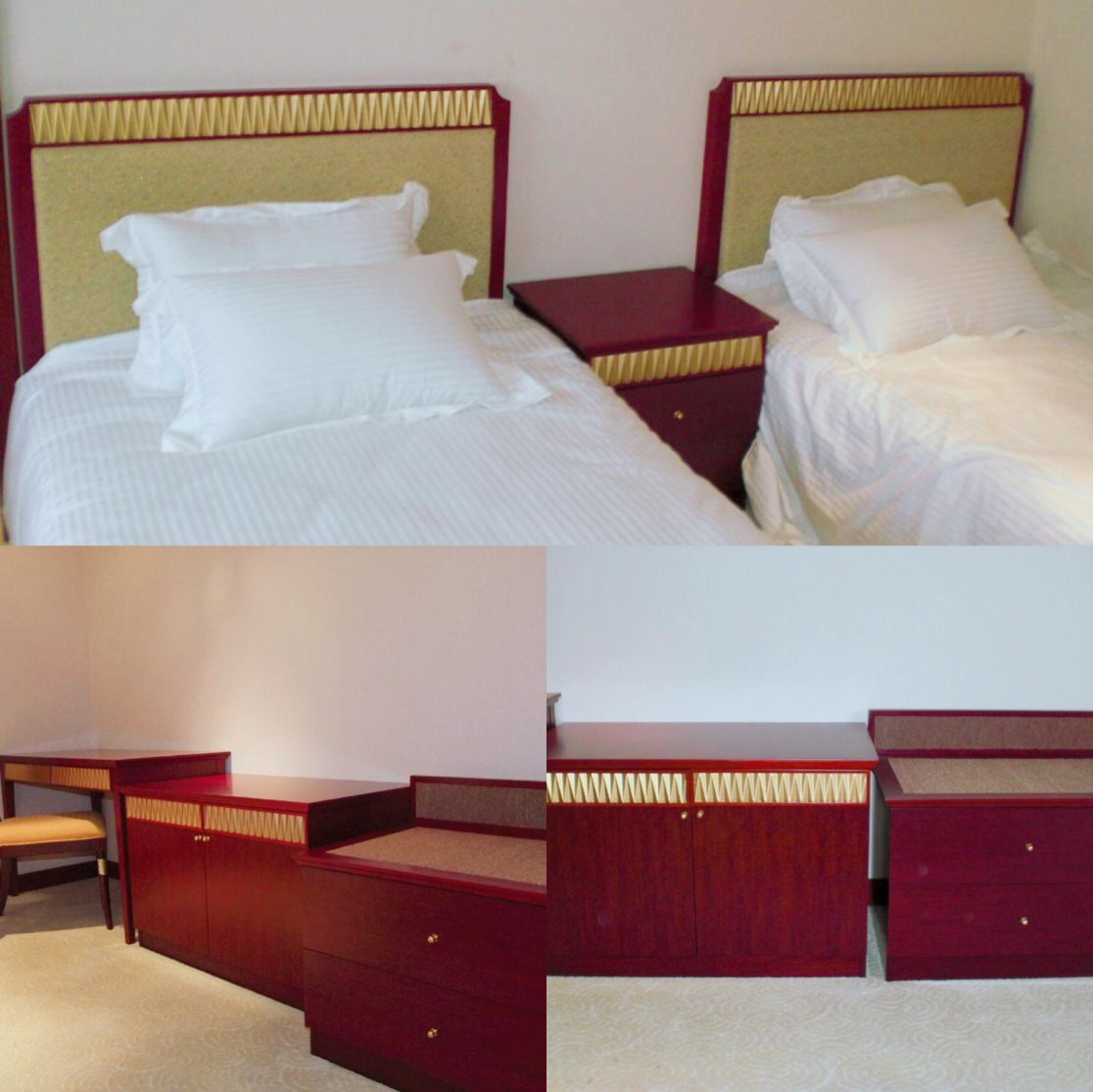 China Customized Modern Plywood Veneer Hotel Bedroom Furniture Set For Double Hospitality Guest Room Furniture Nchb 9101020511 China Customized Wood Hotel Furniture Double Hotel Bedroom Furniture