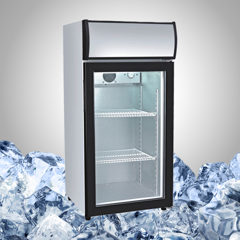 Mini Cooler Fridge with Glass Door for Beer and Beverage