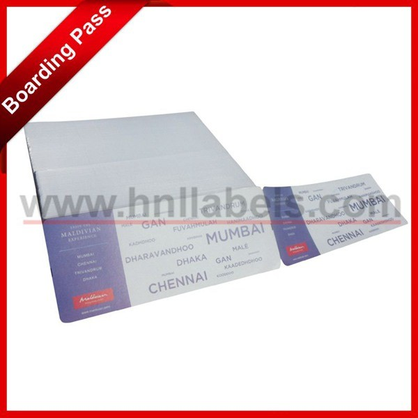 China Airline Boarding Pass Boarding Tickets - China