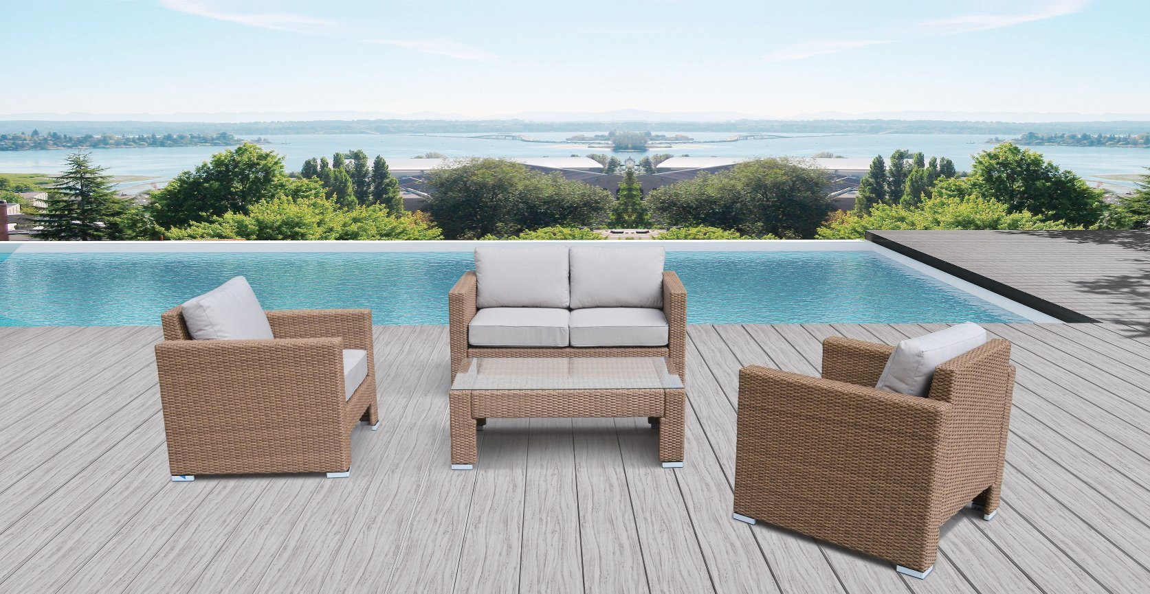China Outdoor Patio Rattan Garden King Lounge Home Hotel Office