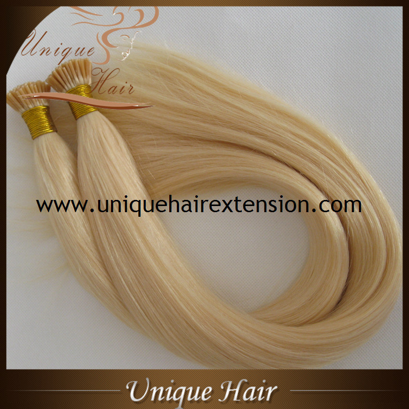 China Keratin Remy Human Hair Pre Bonded I Tip Hair Extension