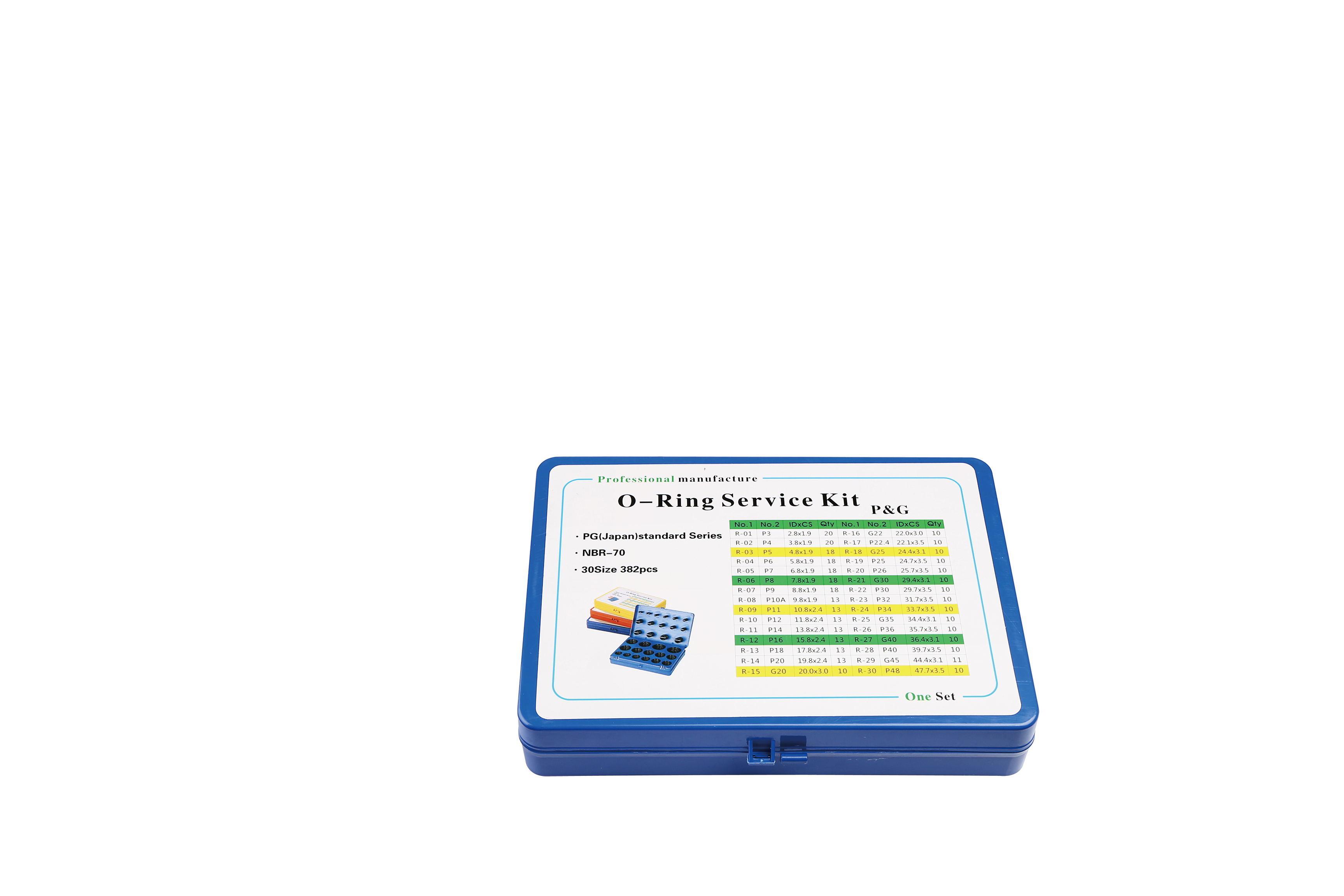 9 Pieces Black Buna-N O-Ring Splicing Kit 70A Durometer Metric Sizes 1 Meter Each