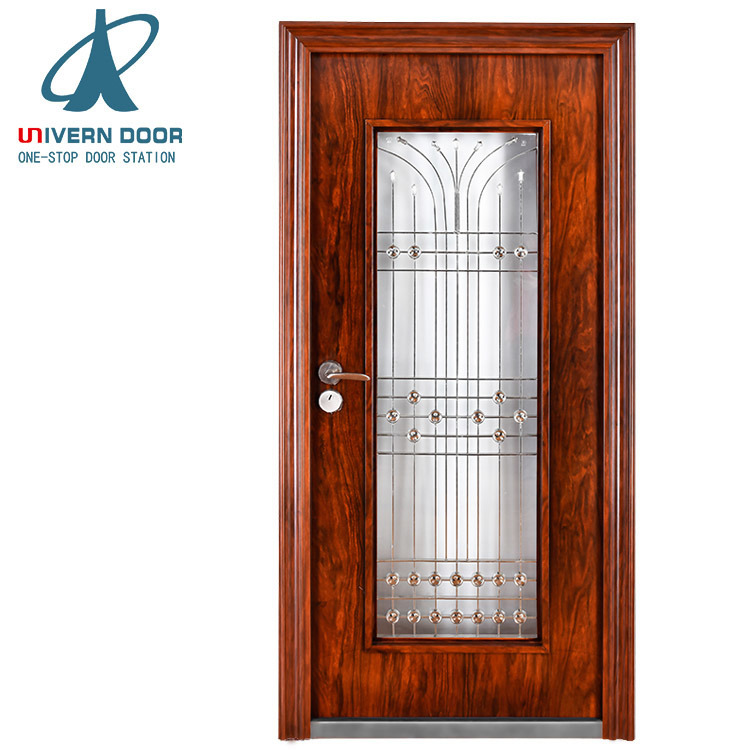 China Outside Wrought Iron Gates Models Steel Door House Main Gate Designs    China Iron Single Door Design, Door
