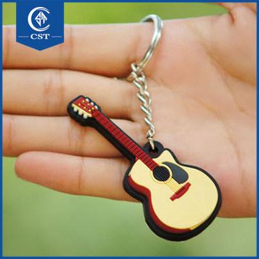 China Custom Guitar Shape Rubber Key Chain fa56939f728a