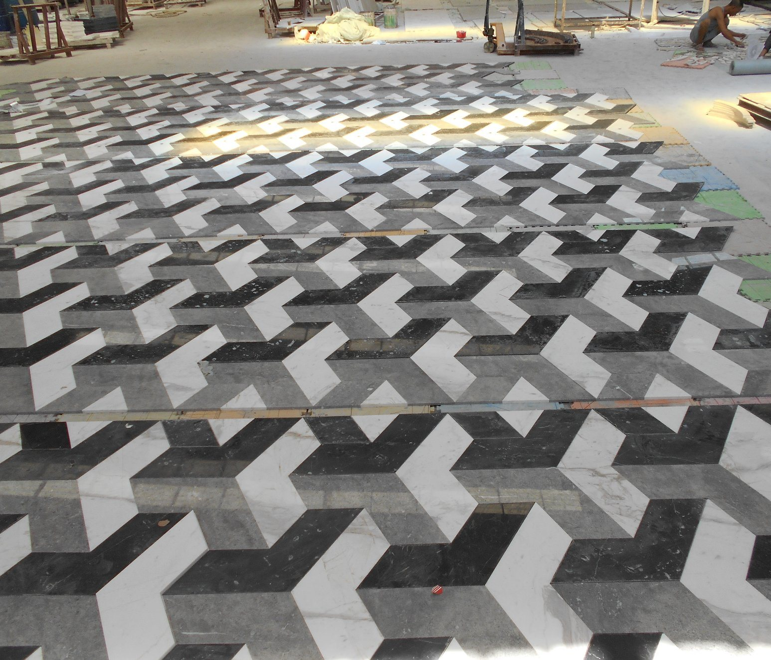 China Wholesale Floor Design Marble Pattern 3d Tile In Black And White China 3d Marble Floor Design Marble Pattern 3d Tile
