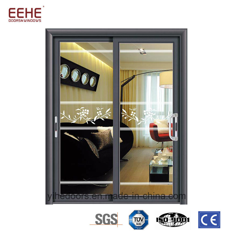 China Thermal Break Aluminum Sliding Doors Air Proof External Glass