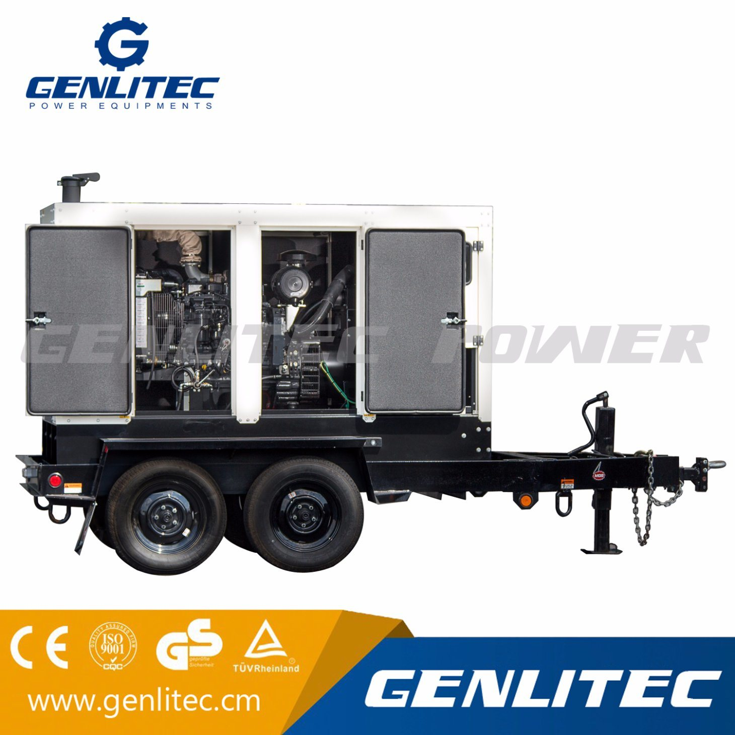 China Heavy Duty Trailer Mounted Mobile Diesel Generator with